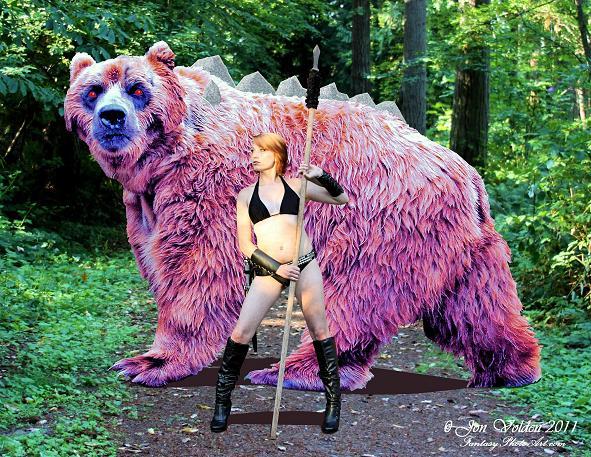 Amazon And Dire Bear